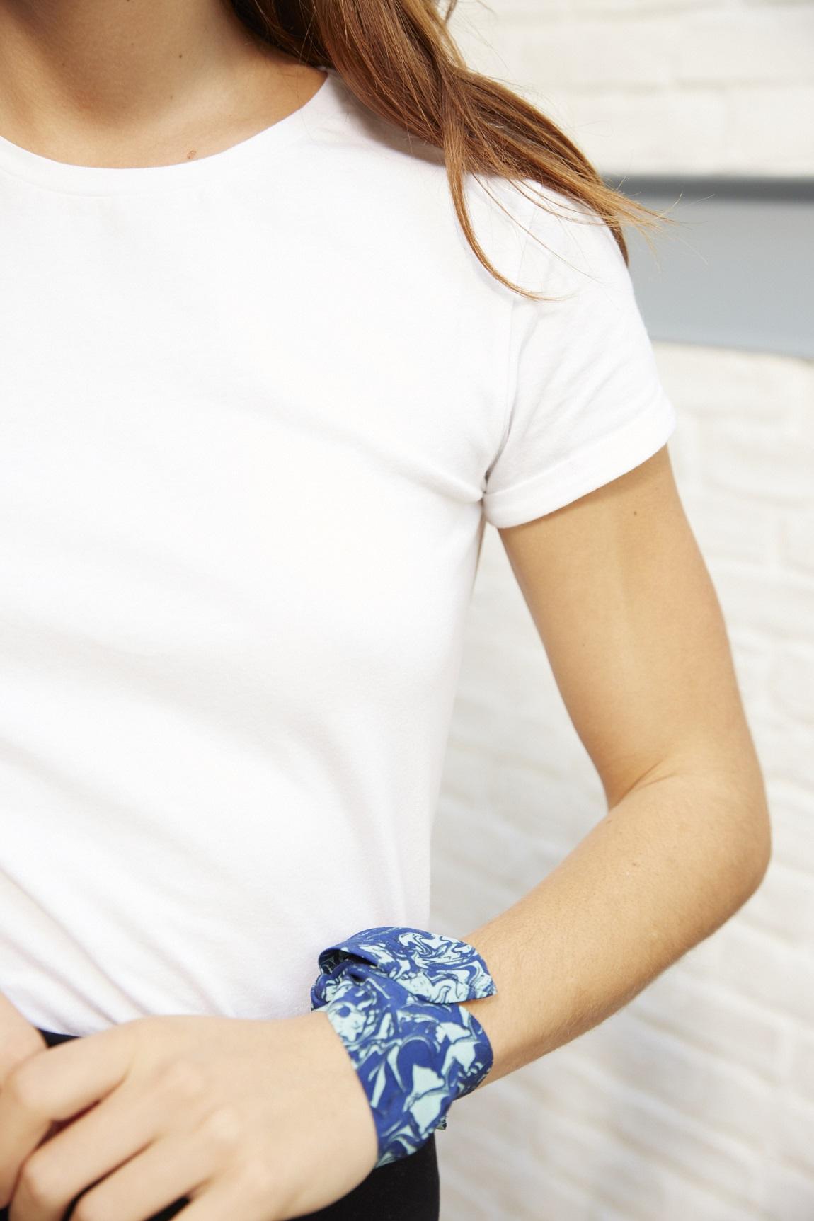 Bracelet M&M corail bleu/vert